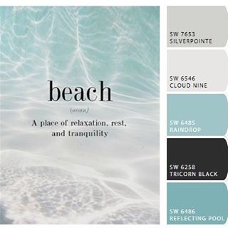 beach paint color palette