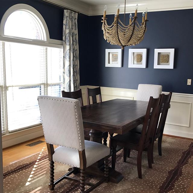 dining room navy paint color