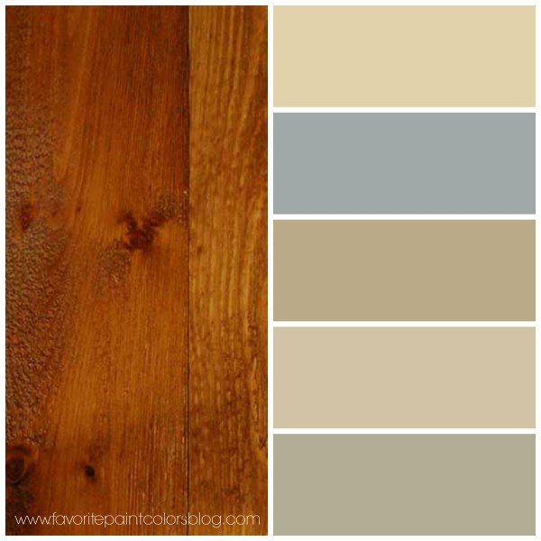 paint colors to go with warm wood