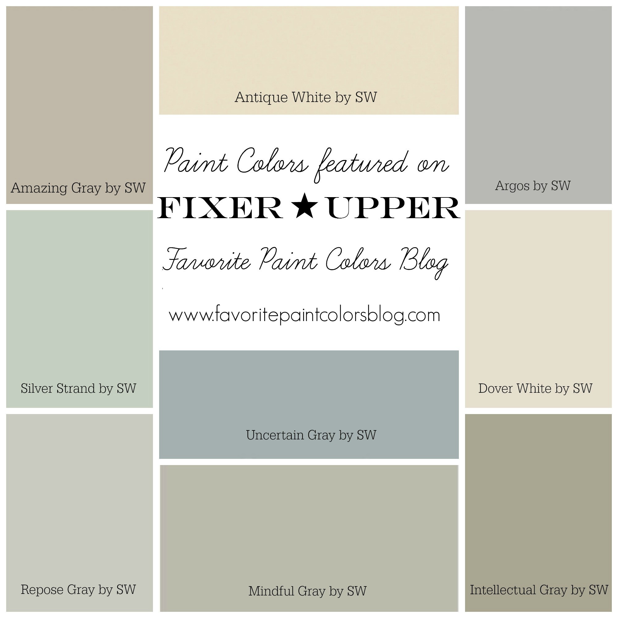 Farmhouse paint color palettes favorite paint colors for French country wall paint colors