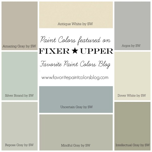 Fixer Upper Paint Colors Favorite Paint Colors Blog