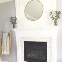 fireplace decor and paint color