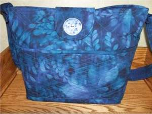 Royal Blue Batik Purse