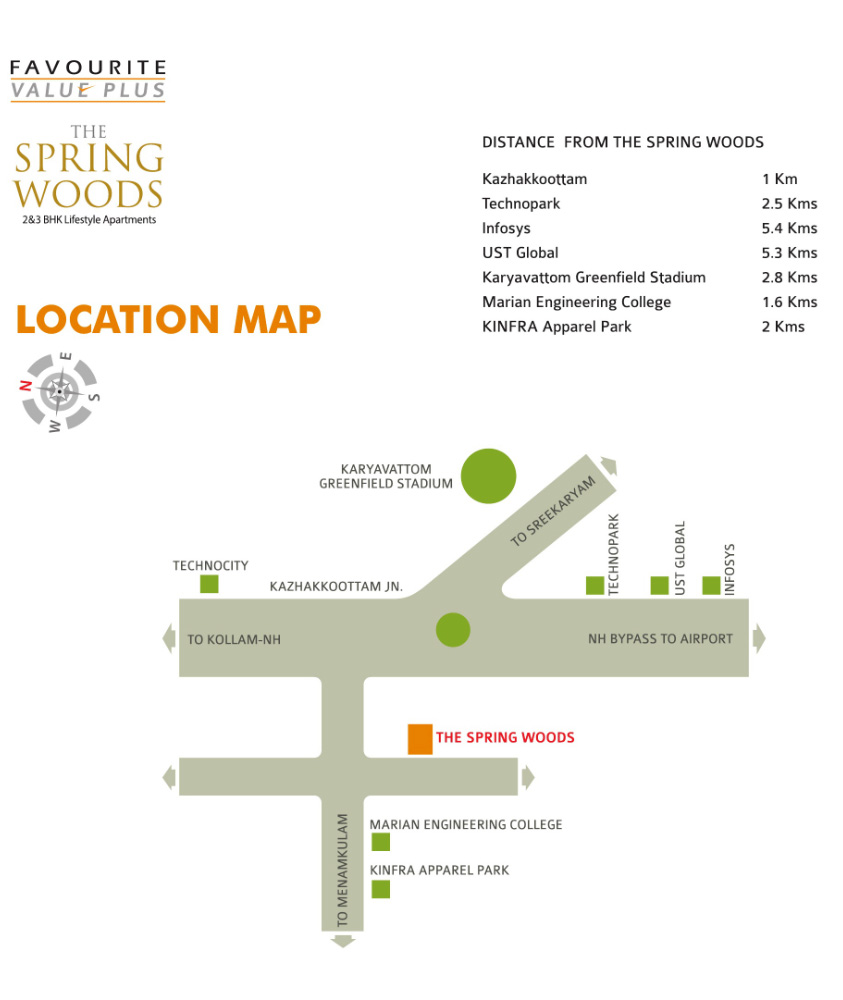 Spring Woods Location Map