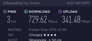 Speedtest VPS Singapore Vultr