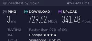 Speedtest VPS Singapore Vultr