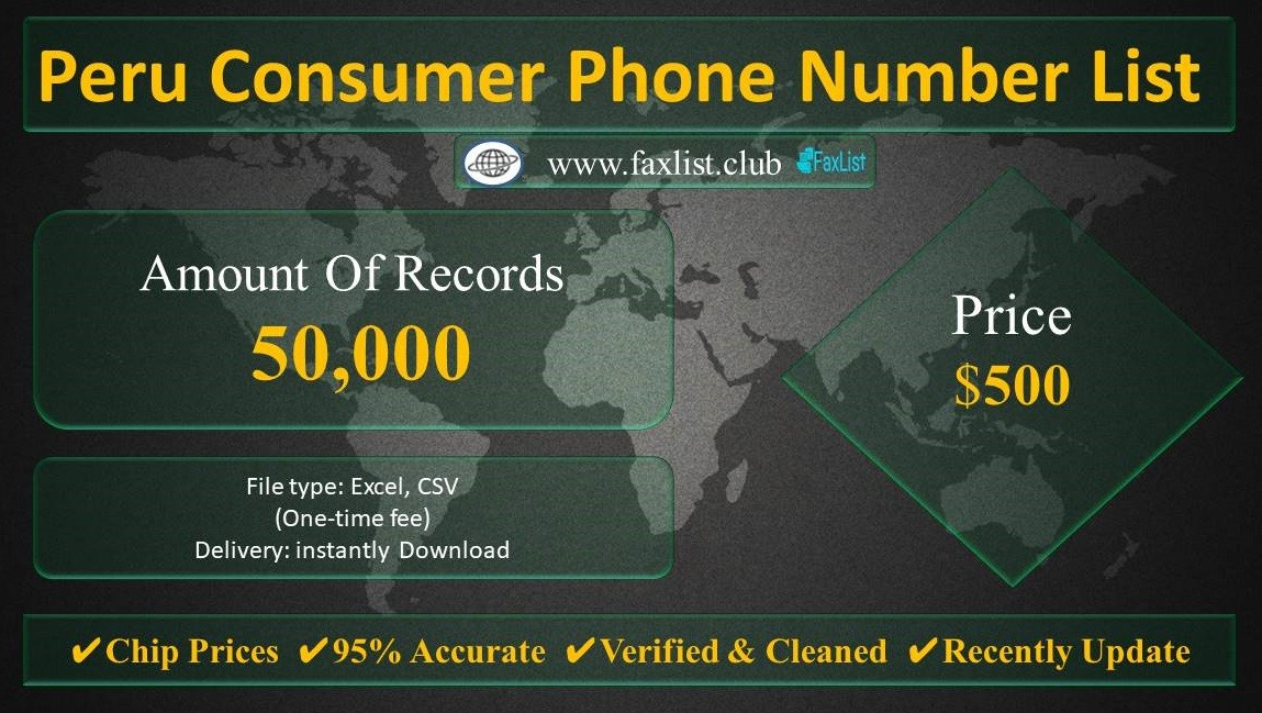 Peru Consumer Phone Number List