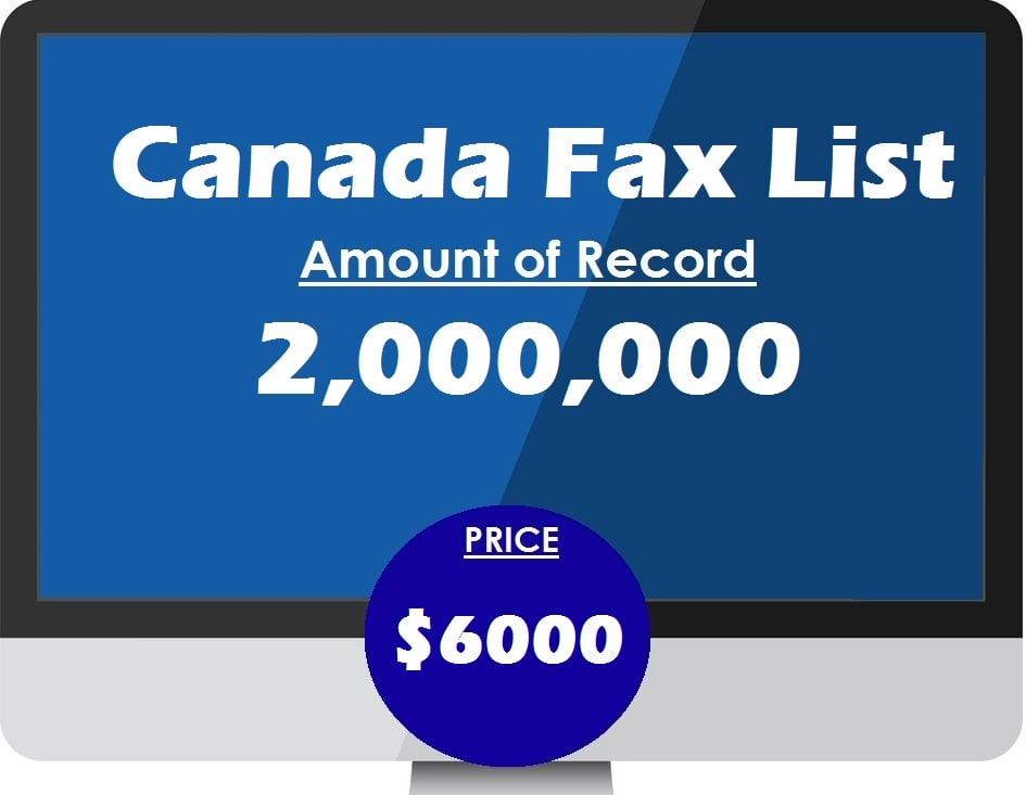 Buy Canada Fax List