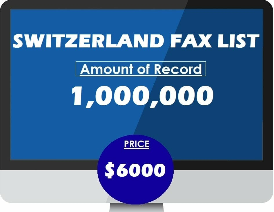 Buy SWITZERLAND FAX LIST