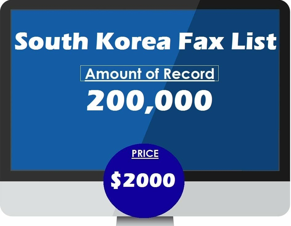 Buy South Korea Fax List