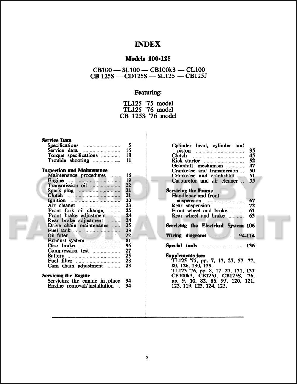 1970 76Honda100125CycleservRRMp3D TOC diagrams 952549 ih cub wiring diagram atis faq on farmall cubs farmall cub wiring diagram at fashall.co