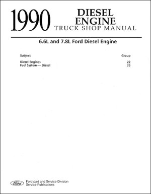 1990 Ford Truck CD Repair Shop Manual 90 F150350 Pickup