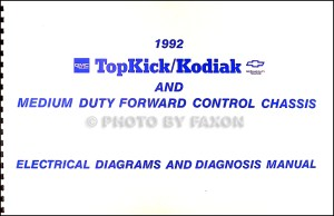 1992 Chevy Kodiak GMC Topkick Wiring Diagram Manual 92