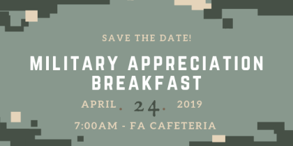 Save the date Military Appreciation