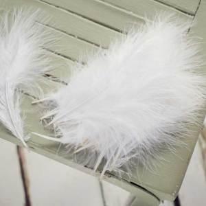 Snowdove White Marabou Feathers