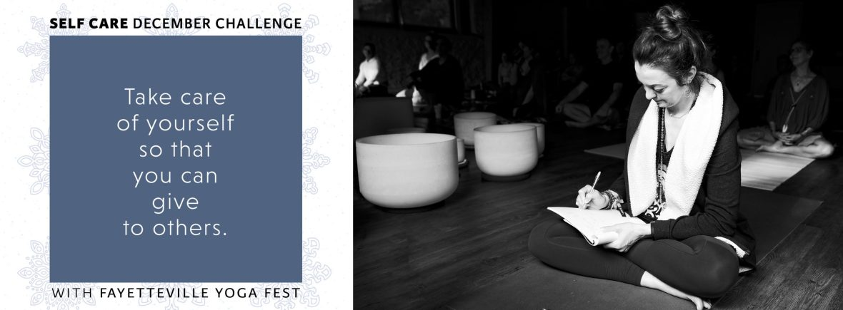 self care challenge in northwest arkansas with fayetteville yoga fest