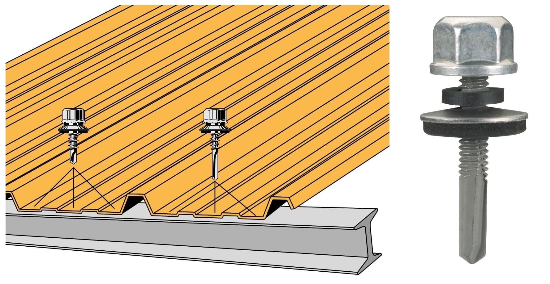 vis tetalu autoperceuse p13 o5 5x35 tk12 fixation de couverture bacs acier en plage sur poutrelles