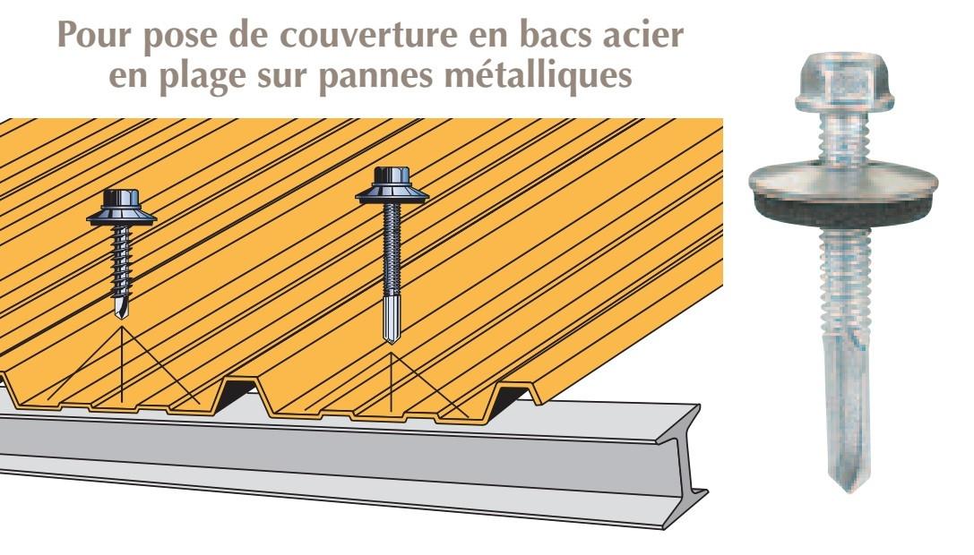 vis inox th autoperceuse p13 o5 5x40 vulca fixation de couverture bacs acier en plage sur poutrelles