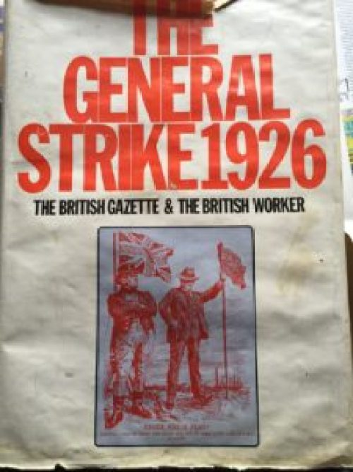 A battered copy of the book The General Strike 1926
