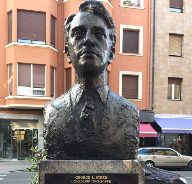 Statue to George Steer, Times Reporter who broke the story of Guernica