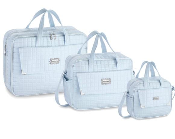 Kit Maternidade Pérola Azul com 3 Peças