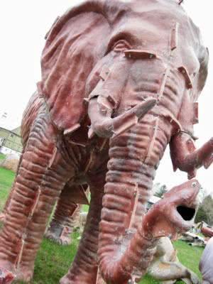 Fibra de vidro - molde elefante