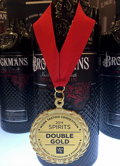 Brockmans Gin WSWA Double Gold 2014