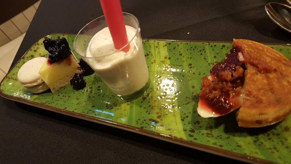 Apple Pie Milk Shake, Caramel Frappé Macaroon, Lemon Bar & Blueberries, Fat Elvis McGriddle