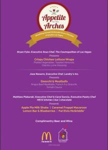 Macdonalds event menu