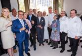 Chefs toast to Vegas Uncork'd with Caesars Palace Regional President, Gary Selesner, and The Cromwell Regional President, Eileen Moore, at MR CHOW at Caesars Palace. Credit Erik Kabik