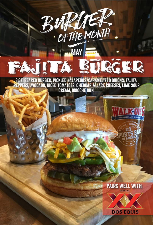 Walk-ons Fajita Burger