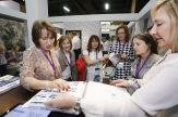 Inspiration abounds as designers and prospective buyers examine the latest fabrics sho wcased at HD Expo.