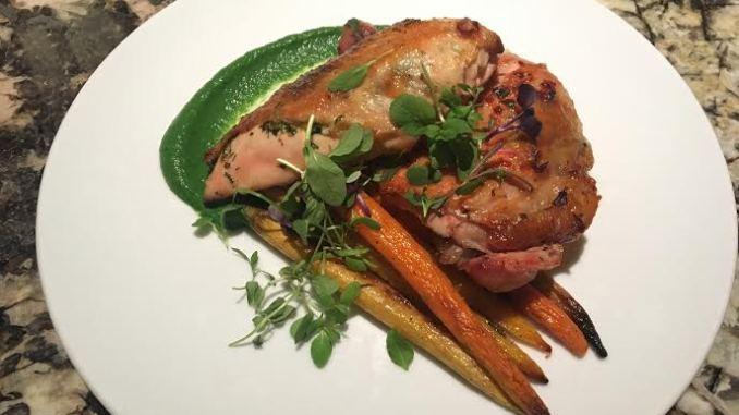 Ariel Malone Head Chef at BLT Steak -  Pan Seard Chicken Breast
