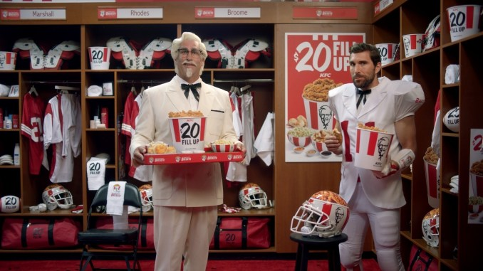 Rob Riggle stars as the Coach of the Kentucky Buckets, a totally real professional football team, in KFC's new campaign