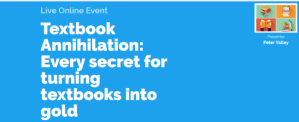 """Live Webinar: """"Textbook Annihilation"""" – How To Profit From Textbooks On Amazon"""