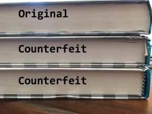 How to spot a counterfeit textbook