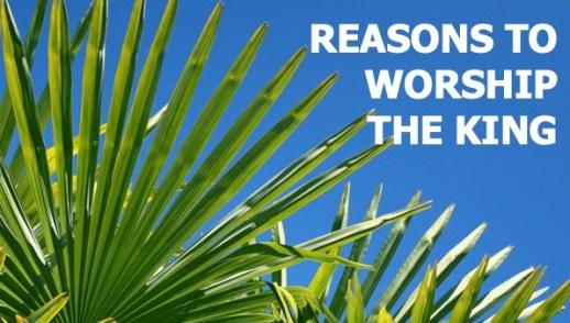Reasons to Worship the King Mark 11:1-11