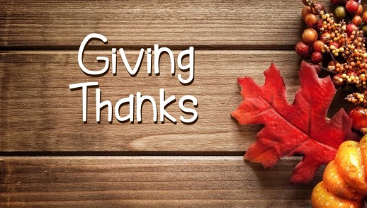 Giving Thanks Psalm 136