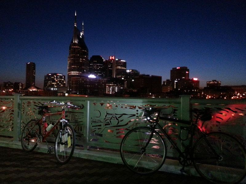 FBC 10 Pedestrian bridge at night