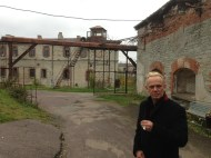 Herbert Murd at Patarei Prison, Tallinn, Estonia, where he was incarcerated in 1981 and 1983 for organizing Christian concerts (2013). Photo: Nancy McKibben.
