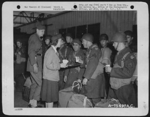 Air Force Personnel Are Greeted With Refreshments Upon Their Arrival At A Sea Port Somewhere In Iceland. 2Nd Service Group, 28 June 1944..