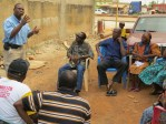 Bro. Rocky Hall preaching in Ghana