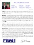 James Belisle Prayer Letter:  Divine Appointments