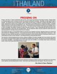 Team Thailand Update:  Pressing On
