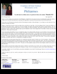 Courtney Godsoe Prayer Letter:  Thanking God for Your, Our Supporters