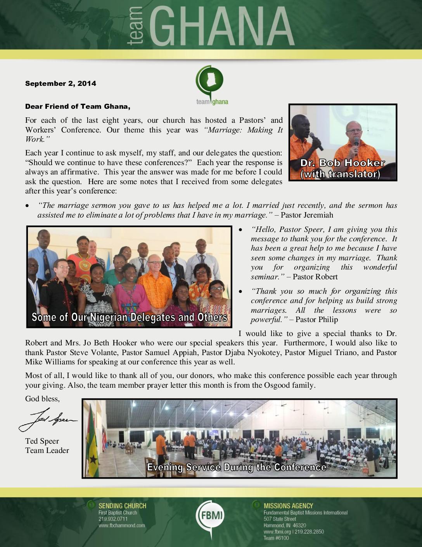 thumbnail of Team Ghana September 2014 Update