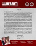 Brian Hebert Prayer Letter:  Working in North Carolina