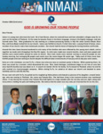 Chad Inman Prayer Letter:  God Is Growing Our Young People