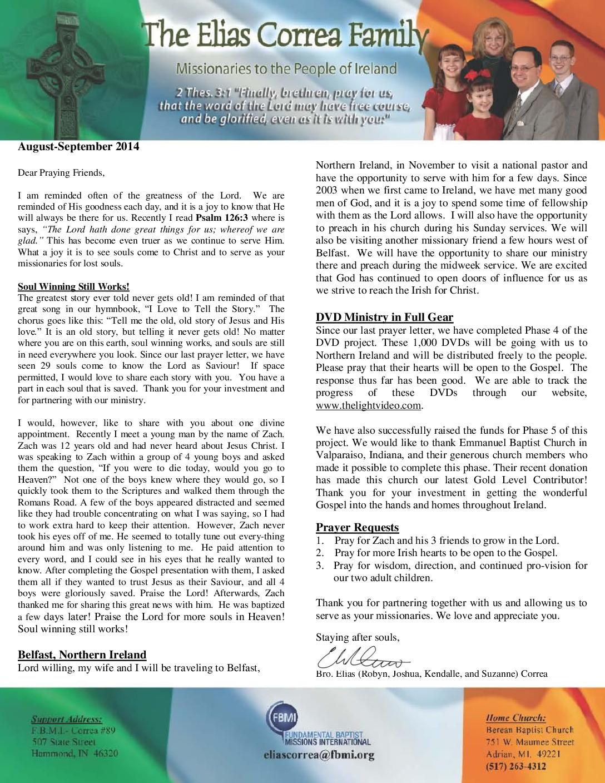 thumbnail of Elias Correa Aug-Sep 2014 Prayer Letter