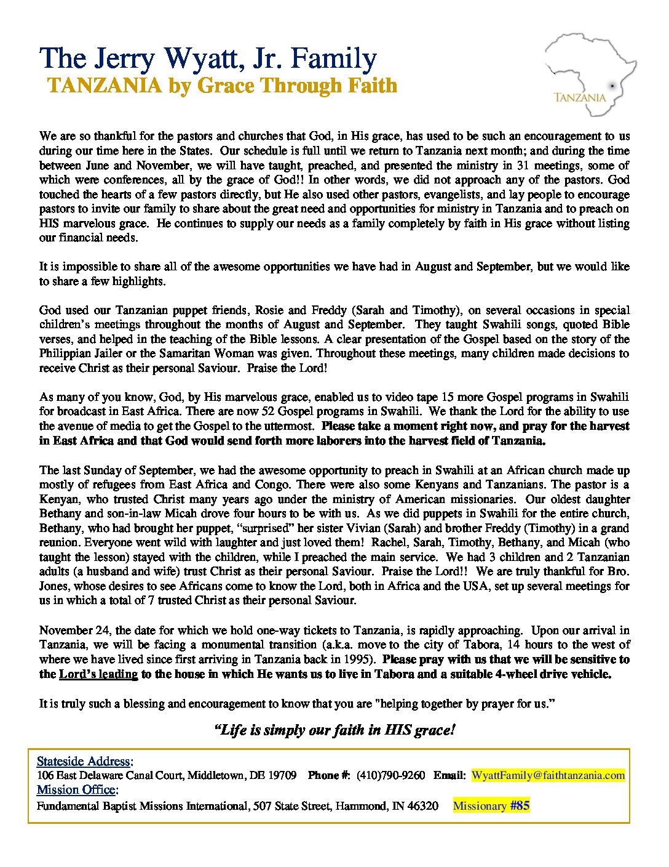 thumbnail of Jerry Wyatt Jr. Aug-Sep 2014 Prayer Letter